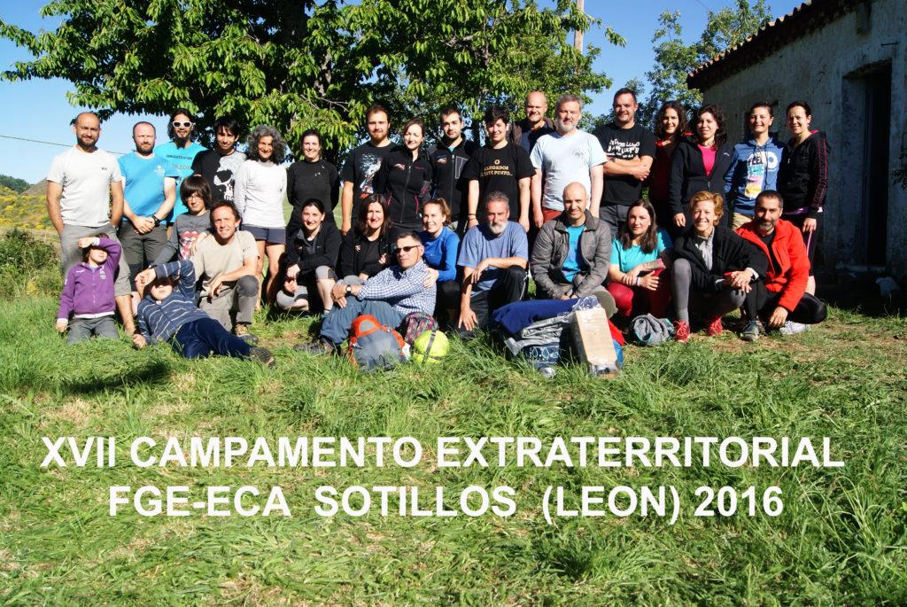 2016 Participantes en el XVII Campamento Galego Extraterritorial